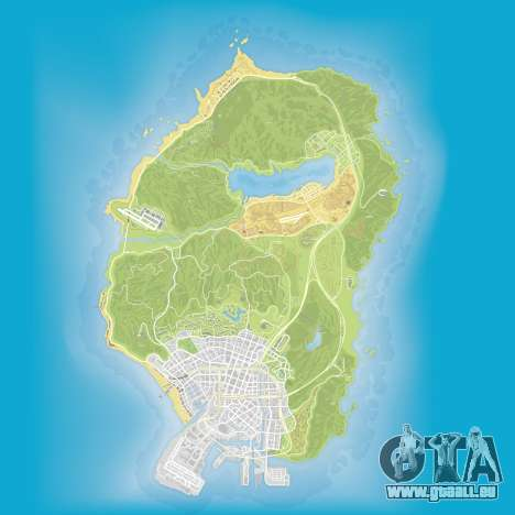 La carte de l'Atlas de Grand Theft Auto 5
