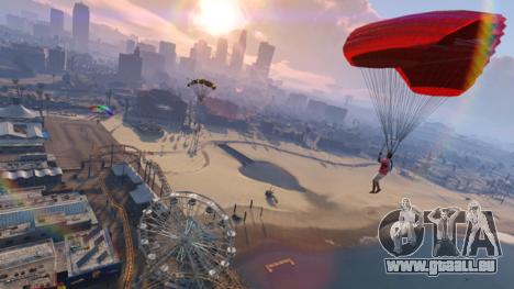 GTA Online les sauts en parachute