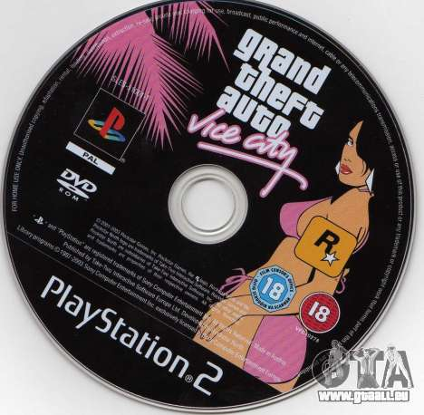 Versionen von GTA VC: die PS2-Version in Nordamerika