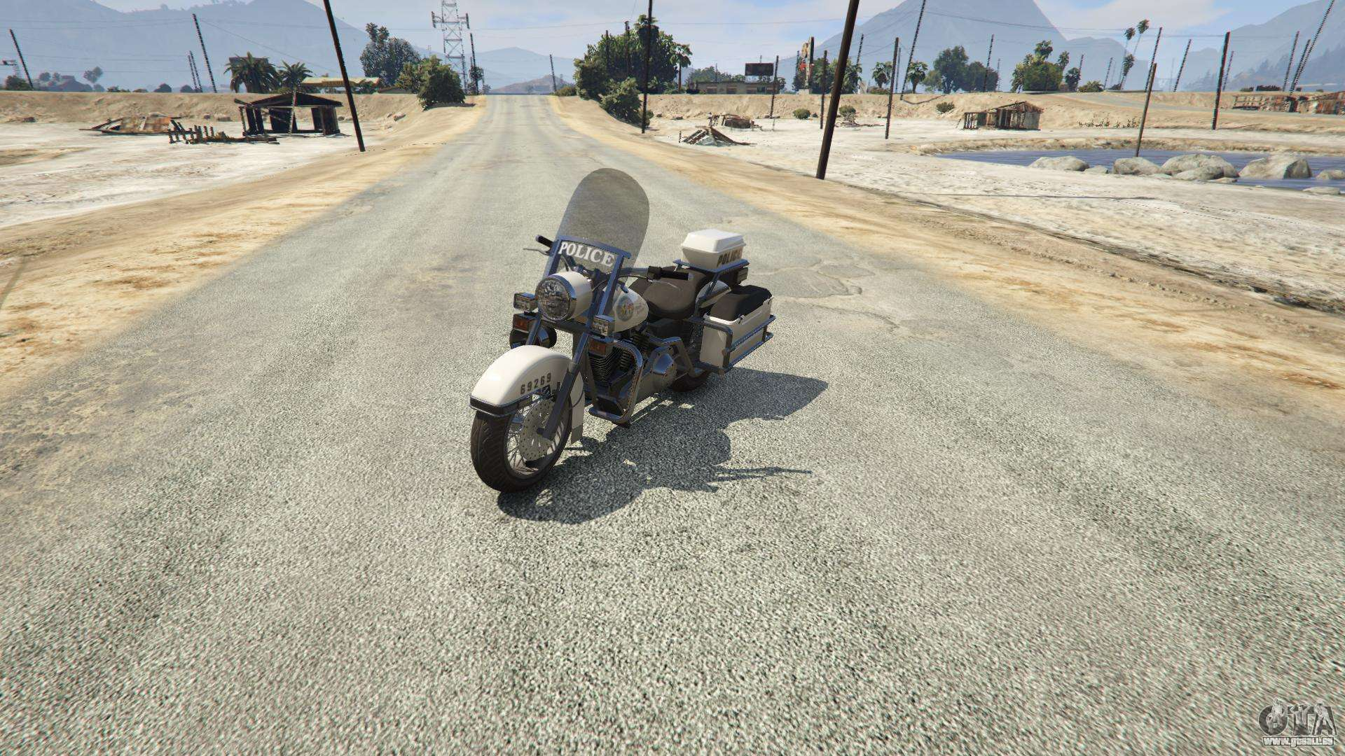 Police Bike GTA 5 - vue de face