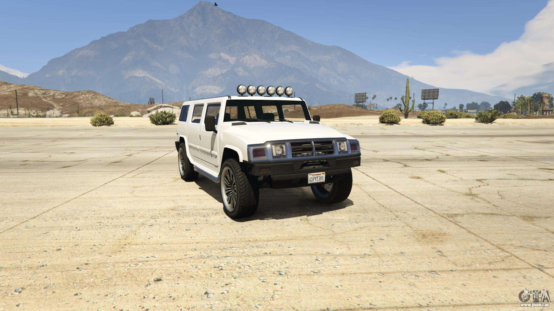 GTA 5 Mammoth Patriot - vue de face