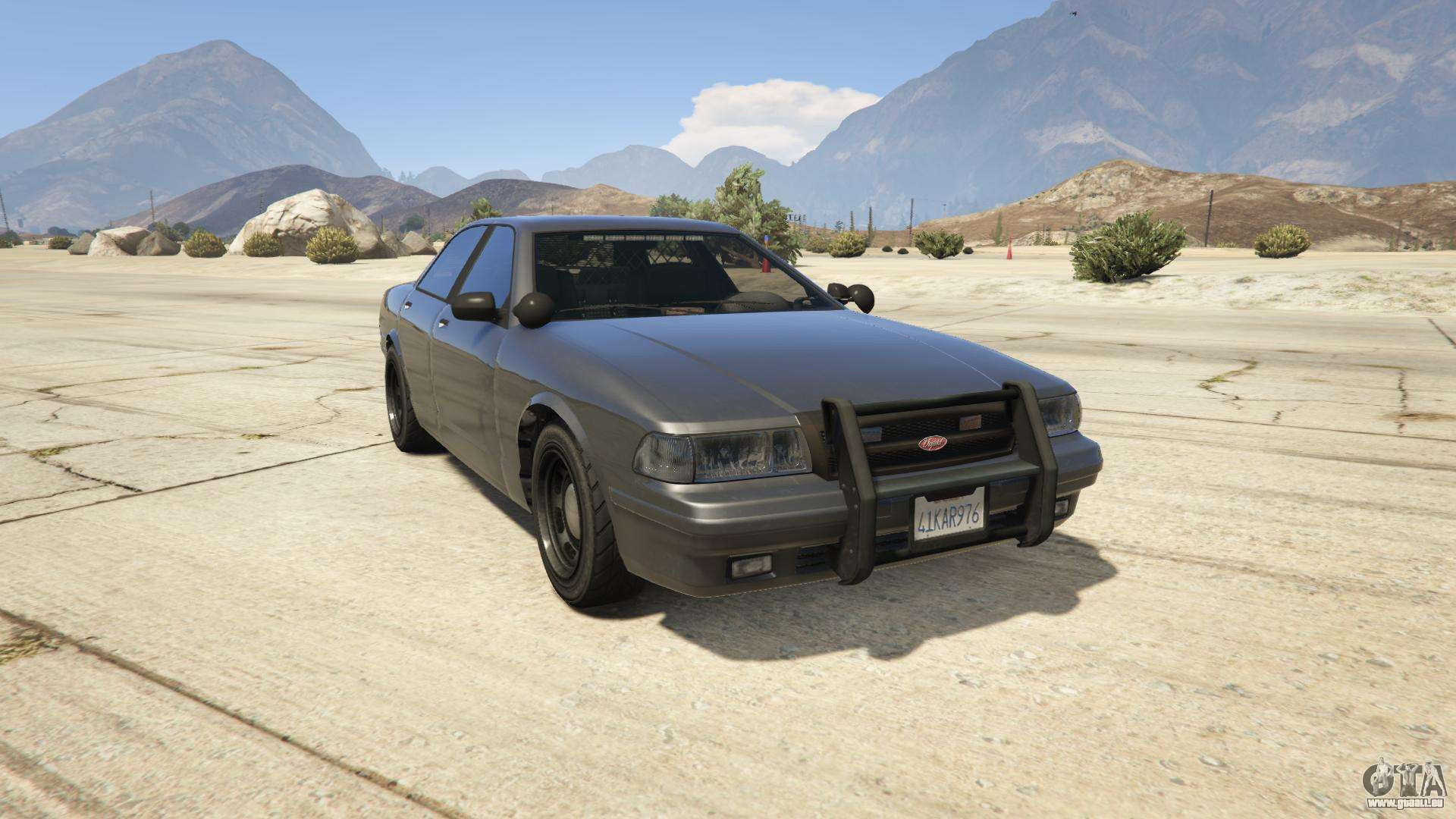 GTA 5 Vapid Unmarked Cruiser - vue de face