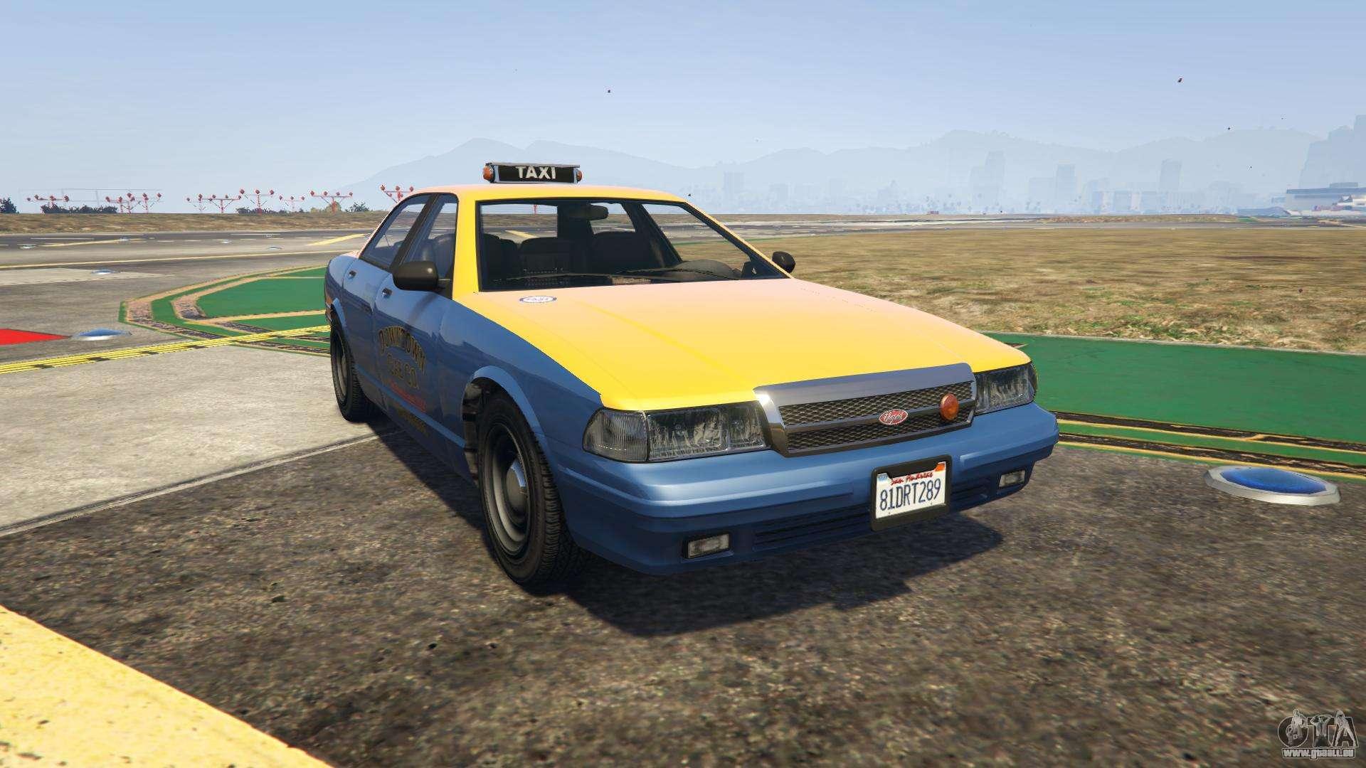 GTA 5 Vapid Taxi - vue de face