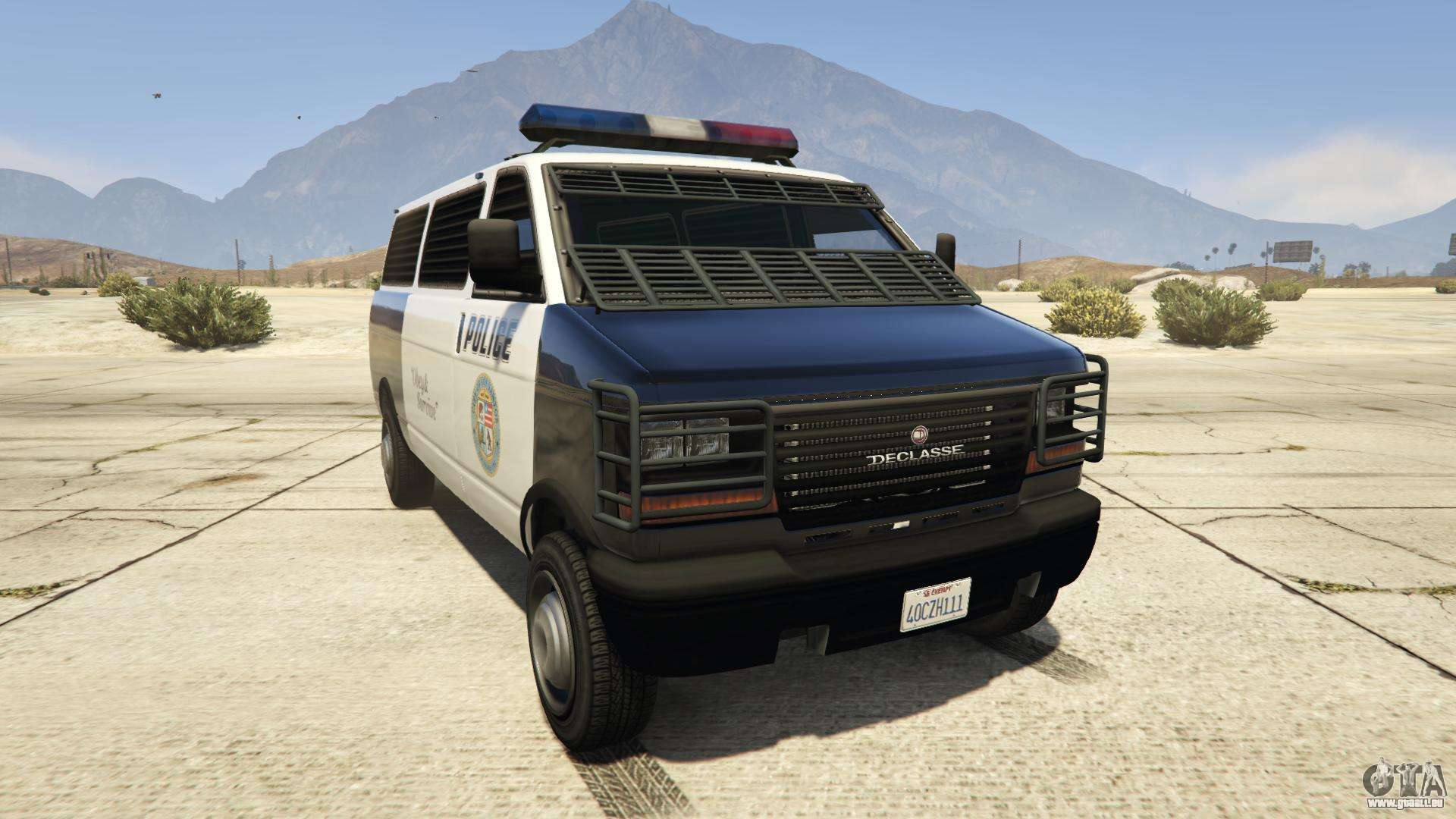 GTA 5 Declasse Police Transporter - Vorderseite