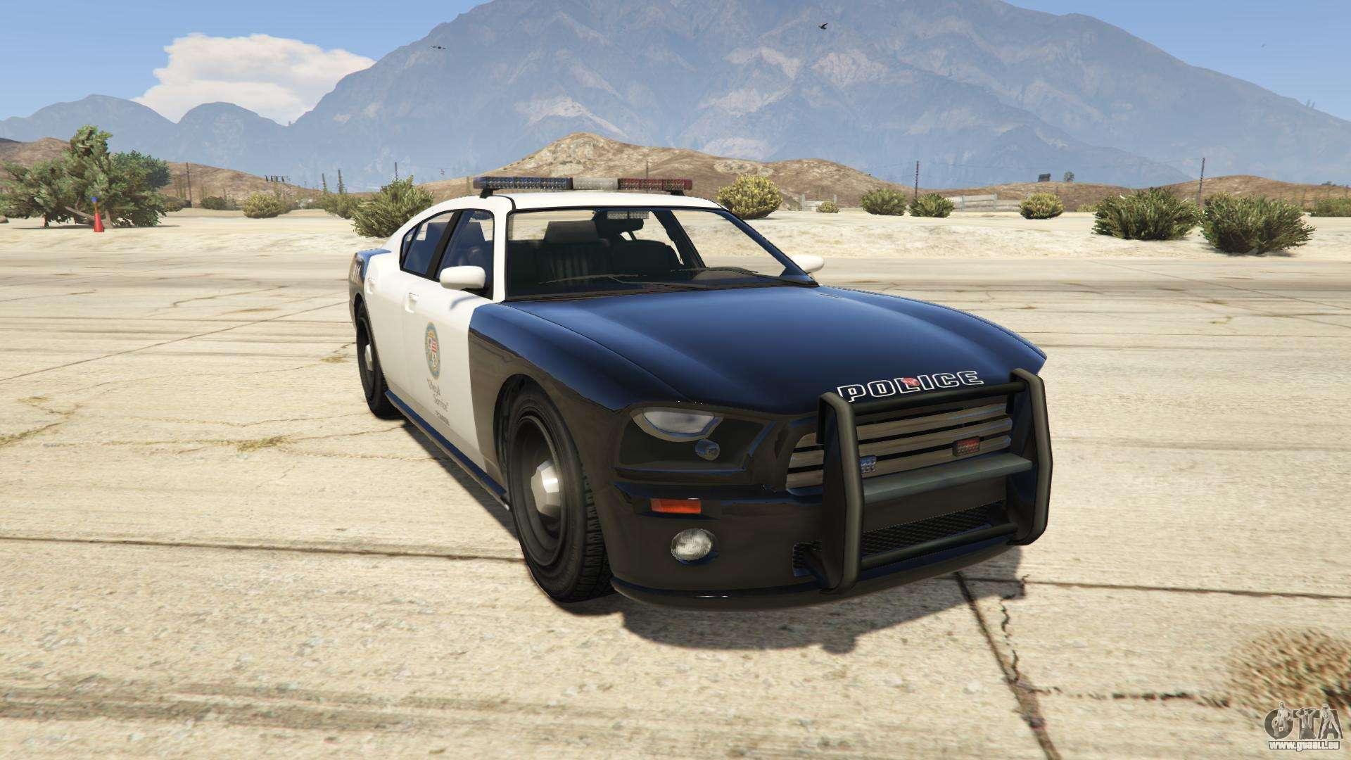 GTA 5 Bravado Buffalo Police - vue de face