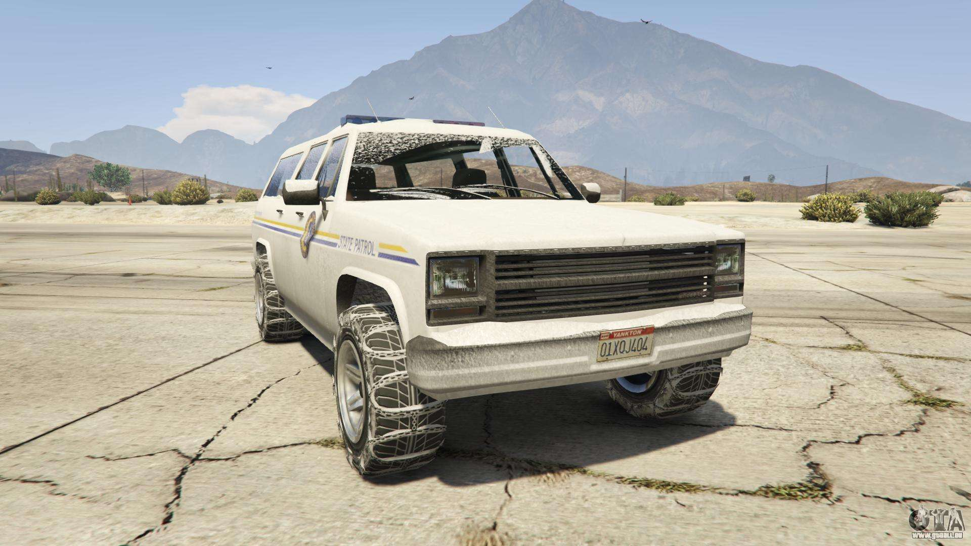 GTA 5 Declasse Police Rancher - vue de face
