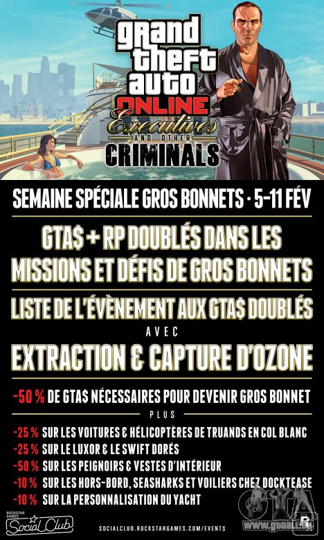 Escomptes et des primes dans GTA Online