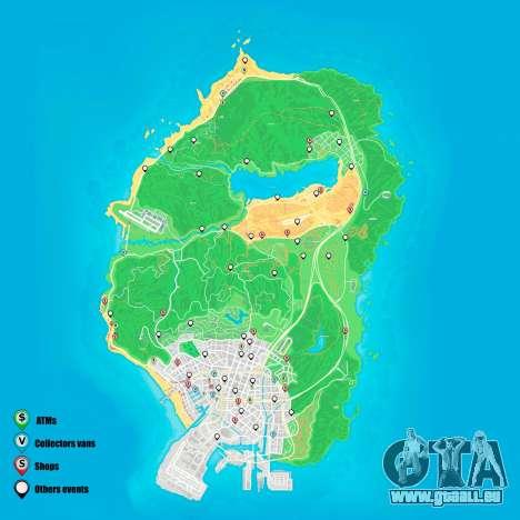 Random events Karte Grand Theft Auto 5
