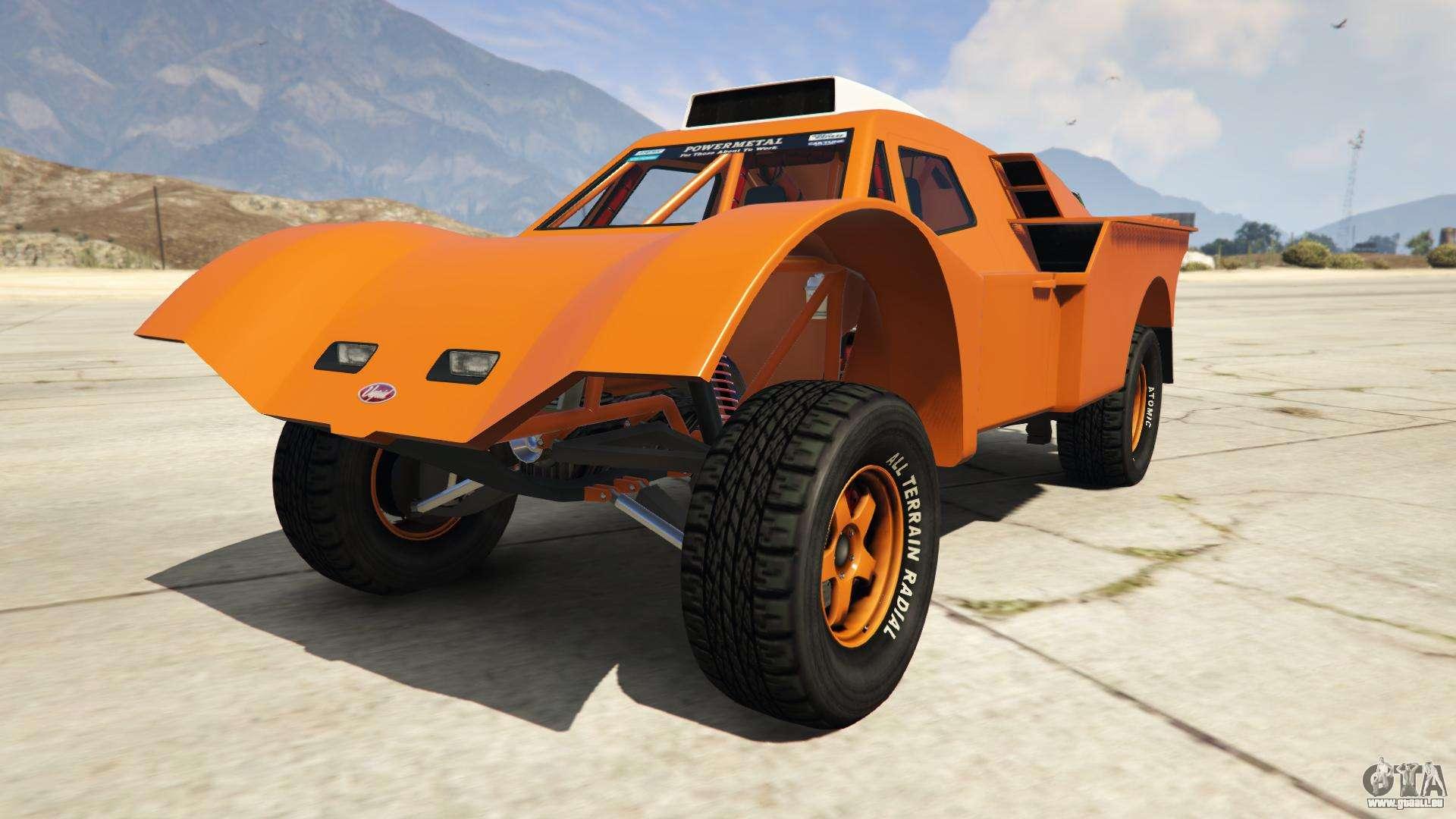 Vapid Desert Raid de GTA Online - vue de face