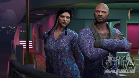 GTA Online: Veste bleue et un pyjama