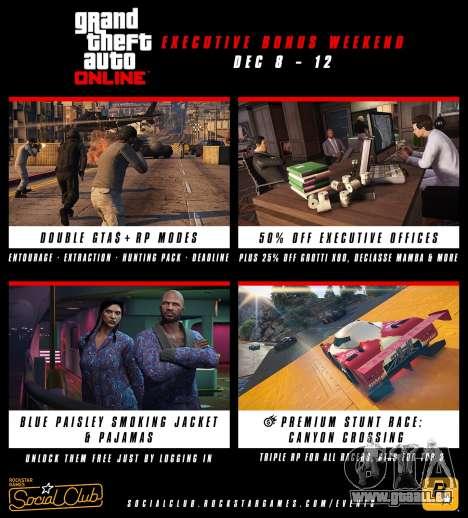 Bonus sur le week-end dans GTA Online