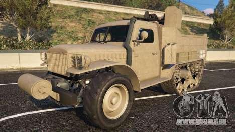 Bravado Half-track de la GTA 5 vue de face