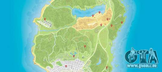 Die Karte Von Autos In Gta 5