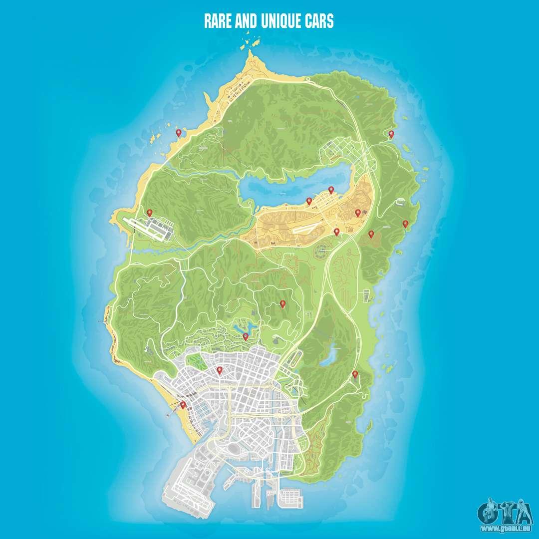 Karte Anzeigen.Die Karte Von Autos In Gta 5