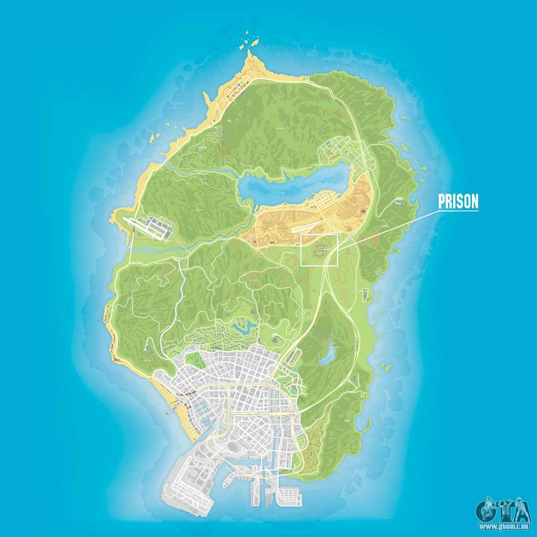 Gta 5 Karte Polizeistation.Gefangnis In Der Gta 5 Spiel Auf Der Karte Anzeigen