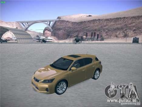 Lexus CT200H 2012 pour GTA San Andreas sur la vue arrière gauche