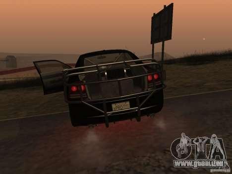 Dodge Charger Fast Five pour GTA San Andreas vue arrière