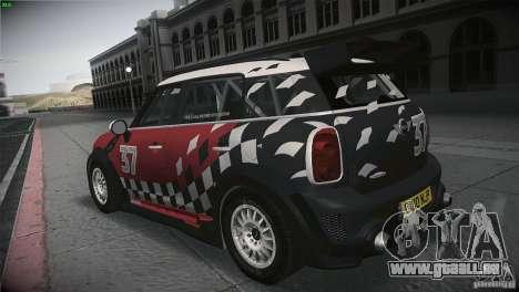 Mini Countryman WRC pour GTA San Andreas sur la vue arrière gauche