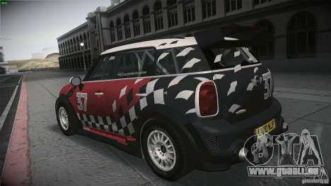 Mini Countryman WRC für GTA San Andreas zurück linke Ansicht
