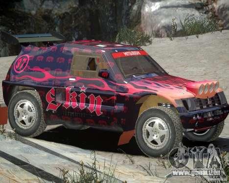 Mitsubishi Pajero Proto Dakar EK86 vinyle 4 pour GTA 4 est une gauche