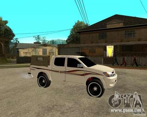 Toyota Hilux 2010 für GTA San Andreas rechten Ansicht