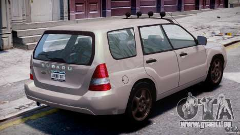 Subaru Forester v2.0 pour GTA 4 vue de dessus