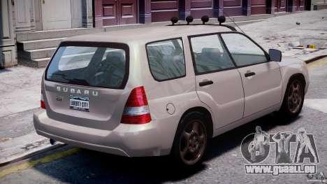 Subaru Forester v2.0 für GTA 4 obere Ansicht