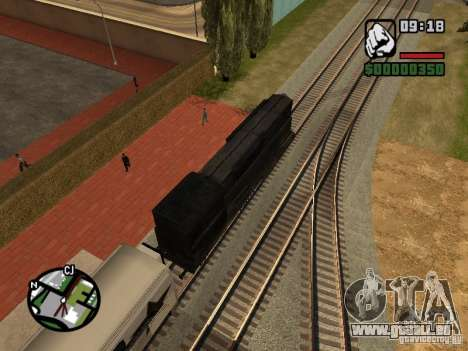 Combinez train depuis le jeu Half-Life 2 pour GTA San Andreas vue intérieure