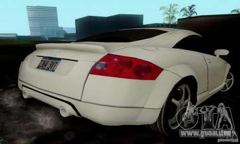 Audi TT pour GTA San Andreas vue arrière