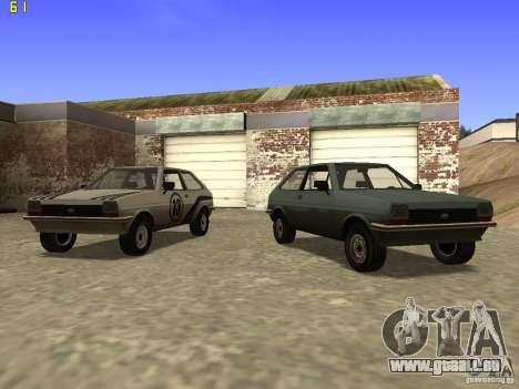 Ford Fiesta 1981 für GTA San Andreas Rückansicht
