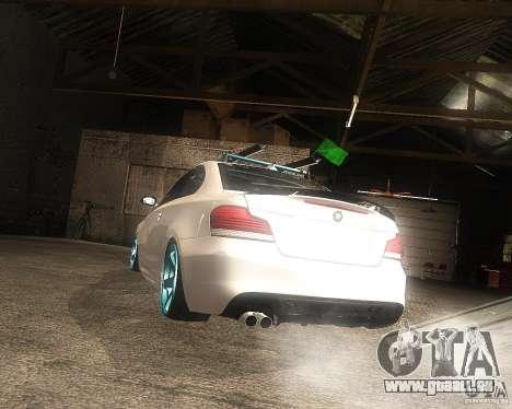 BMW 135i Hella Drift pour GTA San Andreas laissé vue
