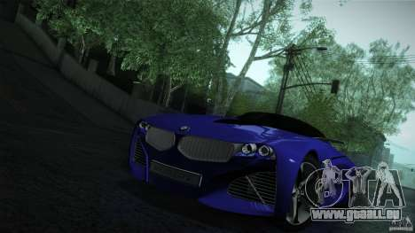 BMW Vision Connected Drive Concept für GTA San Andreas obere Ansicht
