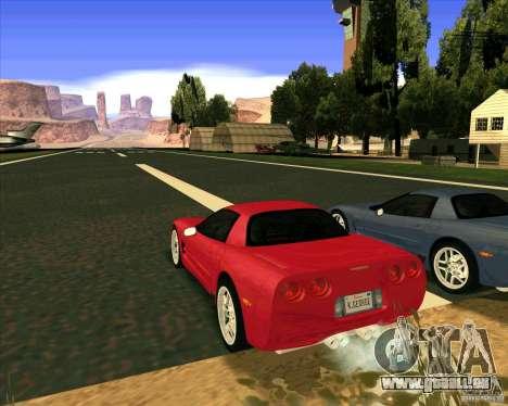 Chevrolet Corvette C5 z06 pour GTA San Andreas laissé vue