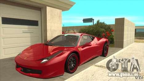 Ferrari 458 Italia Hamann pour GTA San Andreas