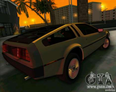 DeLorean DMC-12 V8 für GTA Vice City Innenansicht
