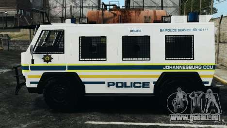 RG-12 Nyala - South African Police Service pour GTA 4 est une gauche
