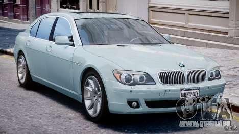 BMW 7 Series E66 pour GTA 4 est une gauche