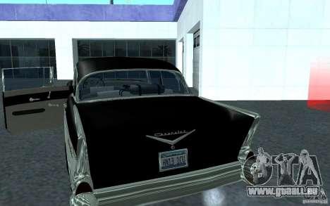 Chevrolet BelAir 4 Door Sedan 1957 für GTA San Andreas zurück linke Ansicht