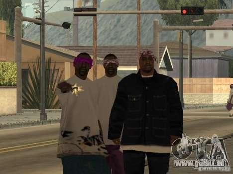 Neue Skins Ballas für GTA San Andreas zweiten Screenshot