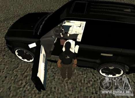 Land Rover Range Rover Sport Hamann für GTA San Andreas Rückansicht