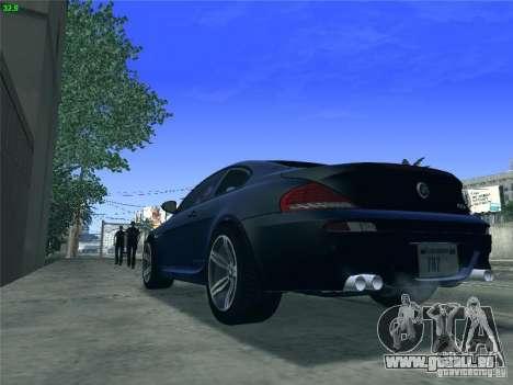 BMW M6 2010 Coupe für GTA San Andreas zurück linke Ansicht