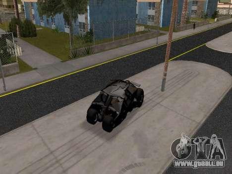 Tumbler Batmobile 2.0 für GTA San Andreas