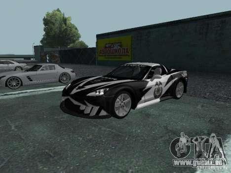 Chevrolet Corvette C6 pour GTA San Andreas salon