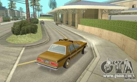 Dodge Diplomat 1985 Taxi pour GTA San Andreas laissé vue