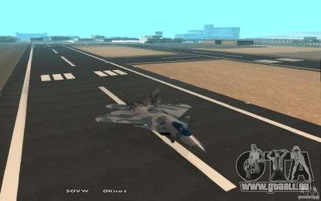 F/A-22 Velociraptor für GTA San Andreas Rückansicht