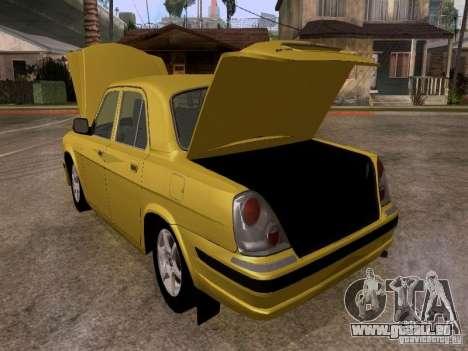 GAZ Wolga 31107 für GTA San Andreas Innenansicht