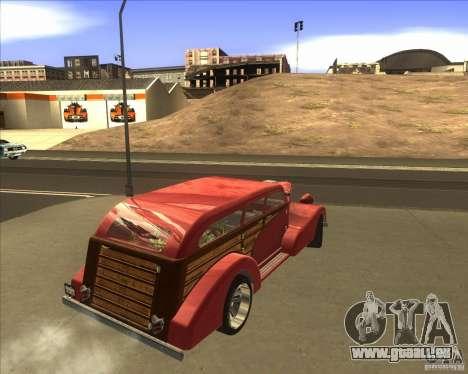 Custom Woody Hot Rod pour GTA San Andreas laissé vue