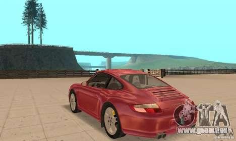 Porsche 911 (997) Carrera S v1.1 pour GTA San Andreas sur la vue arrière gauche