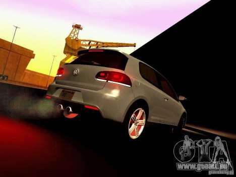 Volkswagen Golf R 2010 für GTA San Andreas Seitenansicht