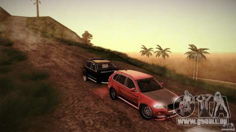 BMW X5 with Wagon BEAM Tuning pour GTA San Andreas vue arrière